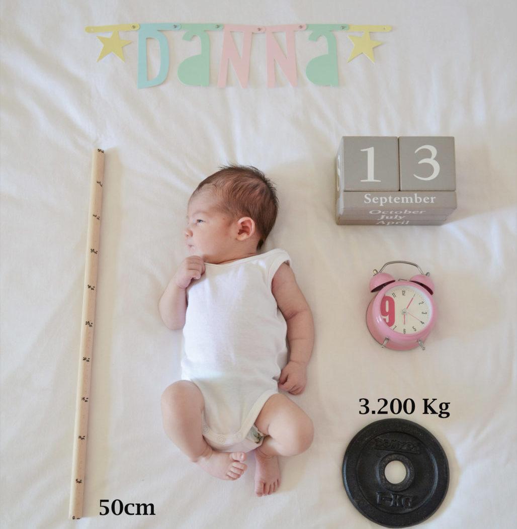 Foto recién nacido peso talla hora