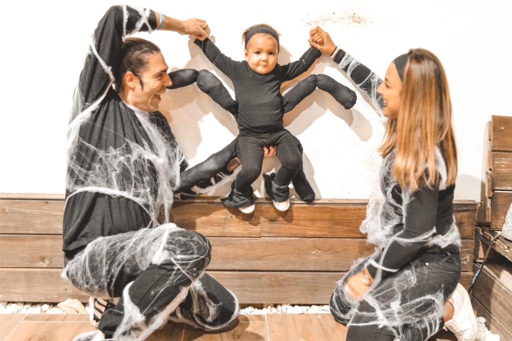 disfraz en familia